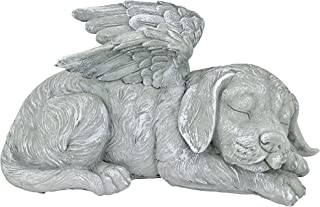 Best Design Toscano Dog Angel Pet Memorial Grave Marker Tribute Statue, 10 Inch, Polyresin, Stone Finish Reviews