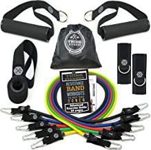 TRIBE Resistance Bands Set and Weights for Exercises I Exercise Bands for Men with Workout Bands, Handles, Door Anchor, An...