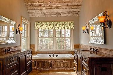 C&F Home Woodland Retreat Window Treatment Curtain Pinecone Decor Decoration Cabin Rustic Lodge Brown Green Cotton for Li