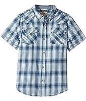 Lucky Brand Kids - Short Sleeve Western Plaid Shirt (Big Kids)