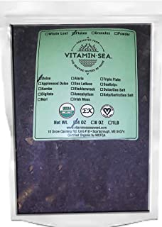 VitaminSea Organic Dulse Flakes Seaweed - 4 oz / 112 G Maine Coast - USDA & Vegan Certified - Kosher - Perfect for Keto or Paleo Diets - Atlantic Ocean - Sun Dried - Raw and Wild Sea Vegetables (DF4)