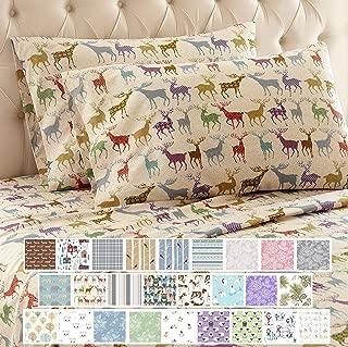 Thermee Micro Flannel Sheet Set, Reindeer Fantasy, Queen