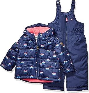 OshKosh B'Gosh Baby Girls Ski Jacket and Snowbib Snowsuit Outfit Set