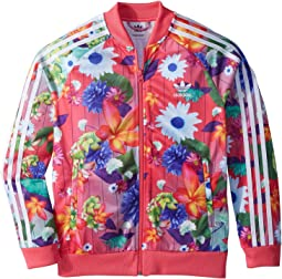 adidas Originals Kids Superstar Floral Track Top (Little Kids/Big Kids)