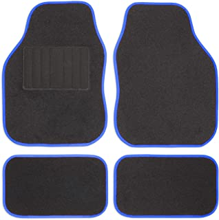 Alfombra coche universal felpudos protección maletero esteras coche alfombra Matrix azul