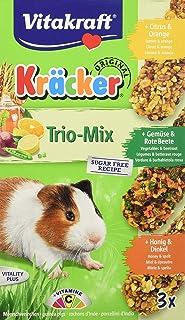Vitakraft Nagersnack Meerschweinchen Kräcker Trio Citrus,Gemüse,Honig, 1x 3St