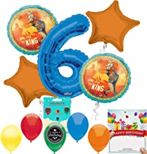 Lion King Party Supplies 6th Birthday Balloon Decoration