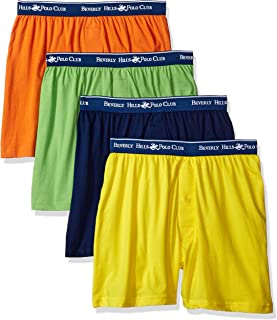 Beverly Hills Polo Club Men's 4 Pack Knit Boxer