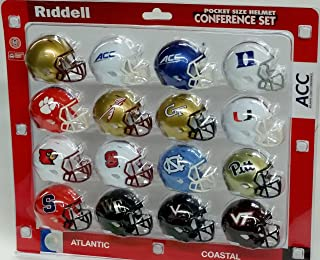 Ncaa Pocket Pro Helmets, ACC Conference Set, (2016) NEW