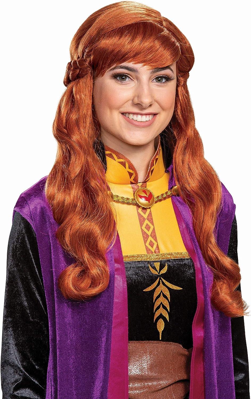 Details about  /Disney Frozen II Anna Kids Childrens Red Wig Hair Dress Up Toy