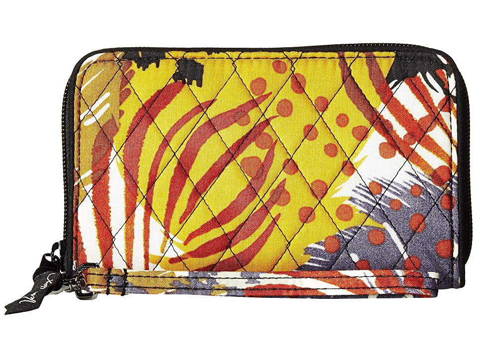Vera Bradley RFID Grab Go Wristlet (Painted Feathers) Wristlet Handbags