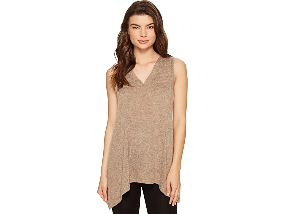N by Natori Sweater Knit Swing Top (Light Coffee) Women