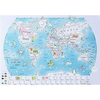 Mapamundi con Pinturas para garabatear: Amazon.es: Juguetes y juegos