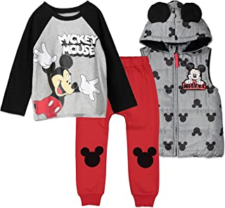 Disney Mickey Mouse Vest Shirt and Pant Set Multicolored