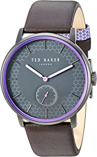 Ted Baker Men's 'James' Quartz Stainless Steel and Leather Watch