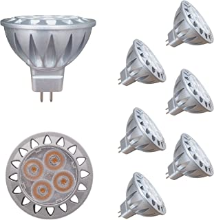 ALIDE MR16 GU5.3 Led Bulbs 5W,20W 35W Halogen Replace Equivalent,2700K Soft Warm White,12V MR16 Low Voltage Bulb Spotlights for Outdoor Landscape Flood Track Lighting,Not Dimmable,400lm,38 Deg,6 Pack