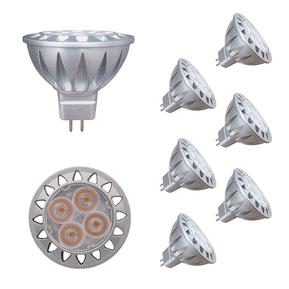 ALIDE MR16 GU5.3 Led Bulbs 5W,20W 35W Halogen Replacement Equivalent,2700K Soft Warm White,12V Low Voltage Bulb Spotlights for Outdoor Landscape Flood Track Lighting,Not Dimmable,400lm,38 Deg,6 Pack