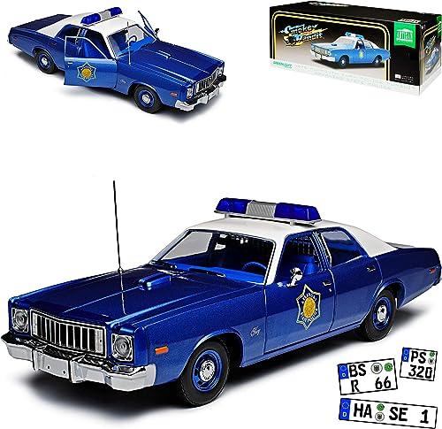 Grünlight Plymouth Fury Smokey and The Bandit Arkansas State Police Polizei 1 18 Modell Auto mit individiuellem Wunschkennzeichen