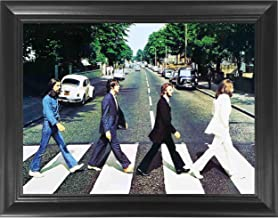 The Beatles Abbey Road 3D Poster Wall Art Decor Framed Print   14.5x18.5   Lenticular Posters & Pictures   Memorabilia Gifts for Guys & Girls Bedroom   John Lennon & George Harrison Band Music Album