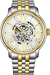Stuhrling Original Men's Automatic Watch with Silver Dial Analogue Display and Multicolour Stainless Steel Bracelet 812.04