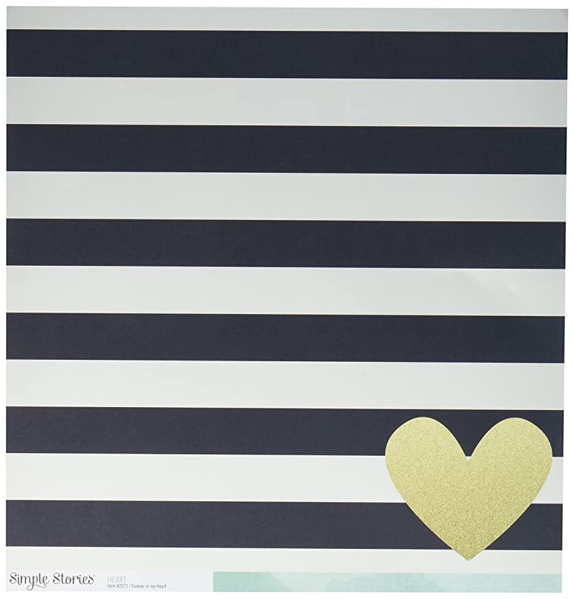 Simple Stories 2071 25 Sheet Forever in My Heart Simple Double-Sided Cardstock, 12