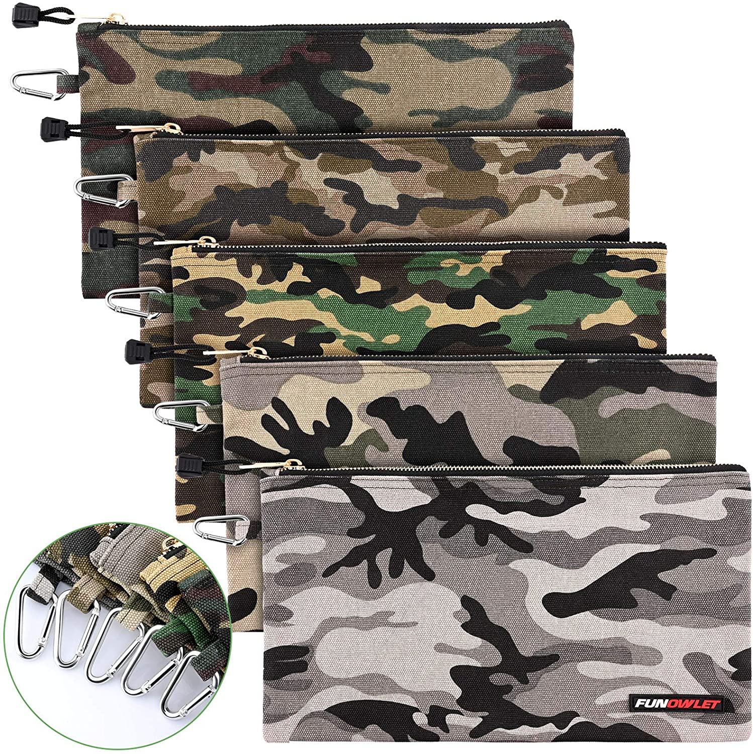 Canvas Tool Pouch Zipper Bag - 5 Heavy Utility Duty Ba Camo Pack Ranking integrated 1st place Special price