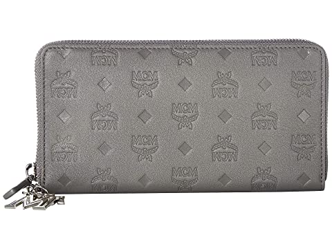 MCM Klara Monogrammed Leather Charm Zipped Wallet Large