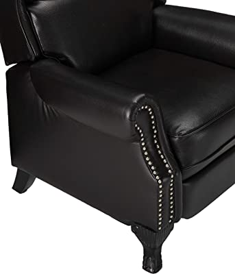 Christopher Knight Home Tauris PU Push Back Recliner, Black Berry