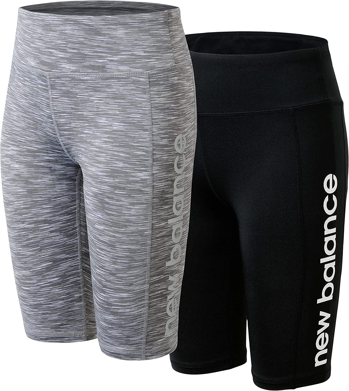 New Balance Girls' Active Shorts - 2 Pack Performance Bike Shorts (Big Girl)