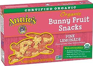 Annie's Gluten Free Organic Bunny Pink Lemonade Fruit Snacks, 4 oz