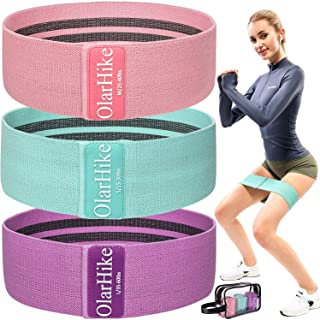OlarHike Resistance Bands Booty Bands Set for Butt Legs Glutes, Non Slip Exercise Fabric Hip Bands Workout Bands for Women with Elegant Carrying Bag