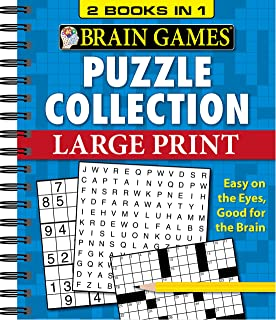 Brain Games - 2 Books in 1 - Puzzle Collection (Large Print)