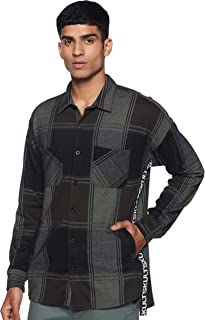 SKULT by Shahid Kapoor Men's Solid Slim fit Casual Shirt