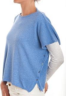 DALLE PIANE CASHMERE - Poncho con bottoni in misto cashmere - Donna