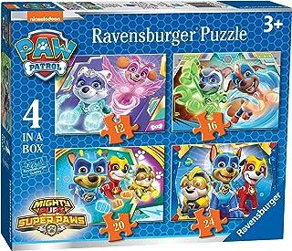 Ravensburger Barnpussel 03029 Paw Patrol: 4 pussel i en box-12/16/20/24 delar [exklusivt för Amazon]