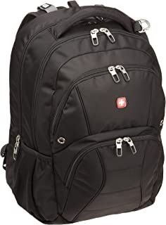 Swiss Gear SA1908 Black TSA Friendly ScanSmart Laptop Backpack  – Fits Most 17 Inch..