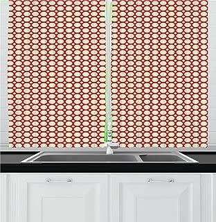 geometric kitchen curtains