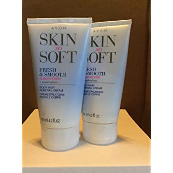 2 Avon SKIN SO SOFT Fresh & Smooth Sensitive Skin Hair Removal Creams
