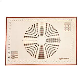 AmazonCommercial Lot de 1Tapis de cuisson en silicone, format extra large, avec mesures, 91,5 x 61cm