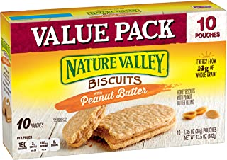 Nature Valley Biscuits 10 Count Box, Peanut Butter, 13.5 Ounce