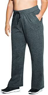 Women's Plus-Size Fleece Open Bottom Pant