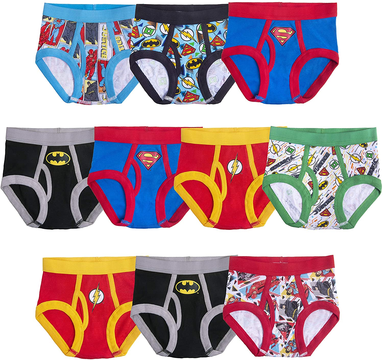 DC Comics Boys' Justice League Multicharacter Underwear Multipacks