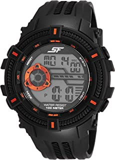 Sonata Fibre (SF) Digital Grey Dial Men's Watch-77080PP02
