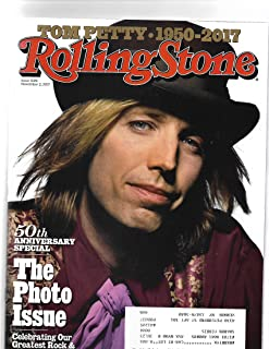 Rolling Stone Magazine November 2 2017 Tom Petty Cover/postal address label on front} {50th Anniv. photo shoot Issue}