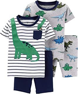 Carter's Toddler Boy's 4 Pc Monkey Pajama Cotton Set PJs