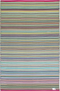 Fab Habitat Reversible Rugs   Indoor or Outdoor Use   Stain Resistant, Easy to Clean Weather Resistant Floor Mats   Cancun - Candy, (6' x 9')