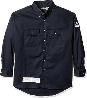 6c877298c72 Bulwark FR Mens Flame Resistant 7 Oz Cotton Nylon ComforTouch Button Collar Uniform  Shirt
