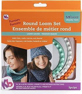 Authentic Knitting Board KB8150 ' 'Premium' Chunky Round Knitting Loom Set
