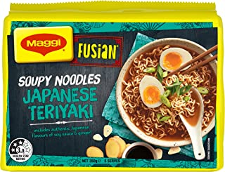 Maggi FUSIAN Japanese Teriyaki Soupy Noodles 30 Pack, 6 x 5 Pack