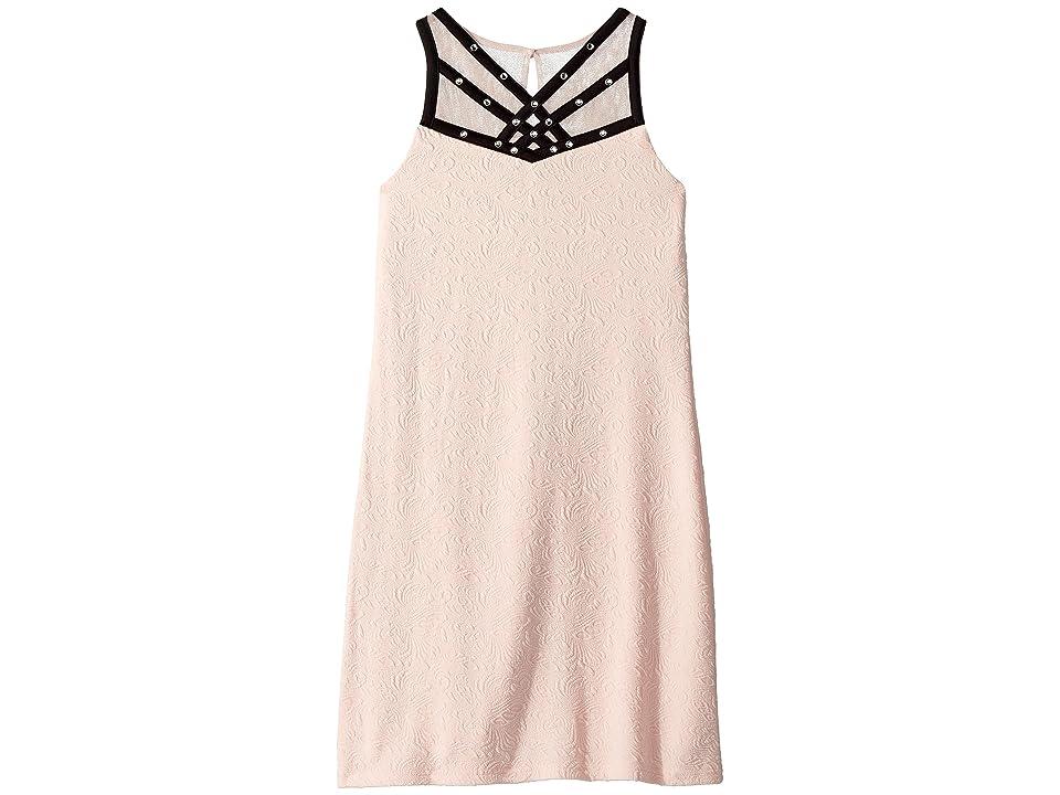 Us Angels Sleeveless Textured Knit Sheath Dress (Big Kids) (Blush) Girl